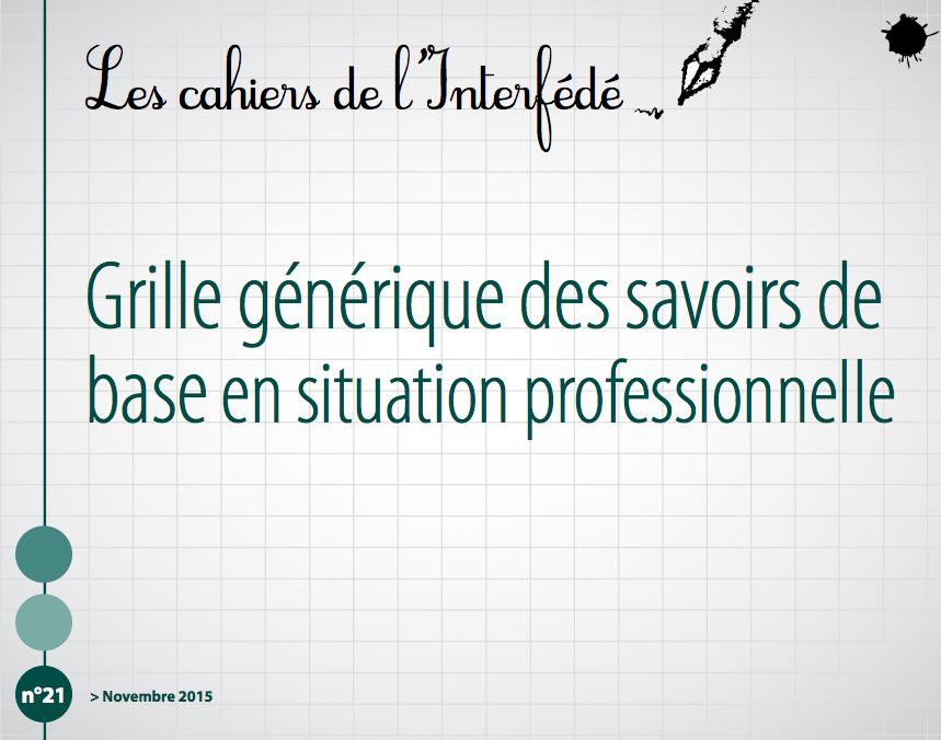 Ressources skillpass - Grille des competences professionnelles ...